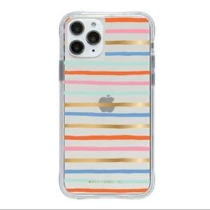 Clear Happy Stripes Rifle Paper iPhone 11 pro/XS/S